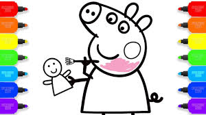 Small Picture How to Draw Peppa Pig Colouring Baby Doll Coloring Pages Kid