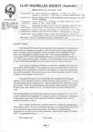 Fillable Online home vicnet net CLAN MACMILLAN SOCIETY (Australia)  NEWSLETTER NO - home vicnet net Fax Email Print - PDFfiller