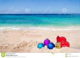 Tropical Beach Christmas And New Year Background Stock Photo ...