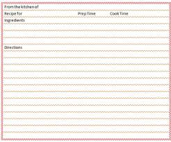 Index Card Recipe Template Blank Recipe Card Template Microsoft Word Templates