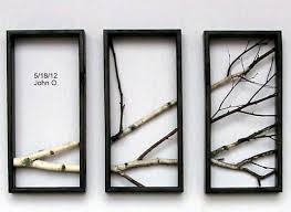 birch branch wall hanging triptychoriginal art by madeatthelake 190 00 on birch tree branch wall art with birch branch wall hanging triptychoriginal art by madeatthelake