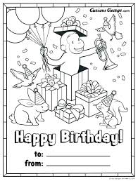 Curious George Coloring Pages Feat Free Printable Curious Coloring