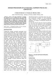Dc Dc Converter Design Examples Pdf Design Procedure Of A Push Pull Current Fed Dc Dc Converter