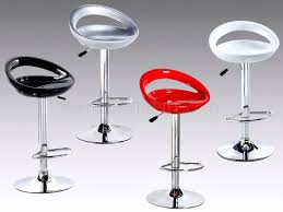 set of  red or silver modern bar stools