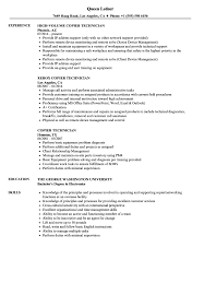 technician resume. Copier Technician Resume Samples Velvet Jobs