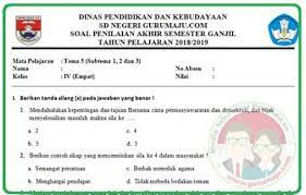 Soal Uas Pas Kelas 4 Tema 5 Kurikulum 2013 Revisi 2018 Guru Maju