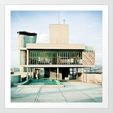 Toit Cité Radieuse Le Corbusier Marseille Art Print