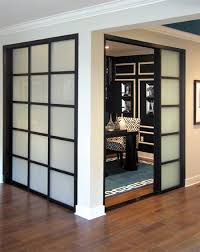 office sliding door. Black/white Home Office With Room Dividers By The Sliding Door Company. O