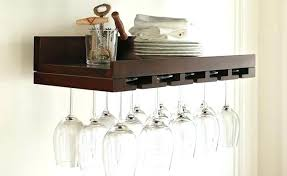 hanging wine glass rack plans wall mounted stemware rack wine wood best home design best