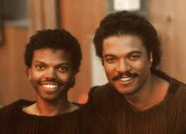 Billy Dee Williams with his son Corey Dee Williams on the set of Return of  the Jedi : StarWars
