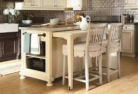 portable kitchen island with seating set