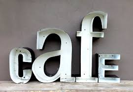 wall art letters vintage cafe letters jennifer price studio on metal lettering wall art with wall art designs wall art letters vintage cafe letters jennifer