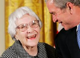 to kill a mockingbird author harper lee dies at the times u s president george w bush speaks novelist harper lee in the east room of