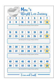 Details About Personalised Weight Loss Reward Chart Tracker Slimming World Weight Watchers