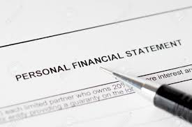 Personal Financial Statement Form With Black Pencil Stock Photo ...
