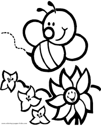 27+ Printable Coloring Pages Of Bees Gif