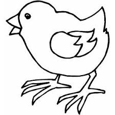 Small Picture Walking Chick Coloring Page