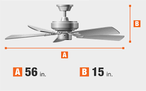ceiling fan dimensions fan blade span and height blade finish brushed nickel