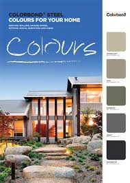 Bluescope Color Chart Brochures Swatches Guides Colorbond Steel