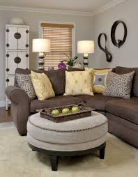 wall color for brown furniture. brown sofa and griege walls but in our accent colors instead other wall decor color for furniture v