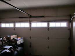amarr 200 2in thick fully insulated garage door with glass inside view showing springs livermore ca
