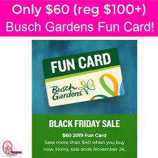busch gardens 2019 fun card 60 reg 100 hurry