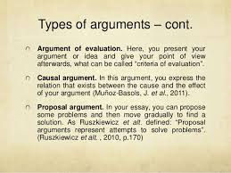 argumentative essays sonia s atilde iexcl nchez 12 types of arguments