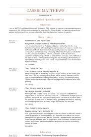 Phlebotomist Resume Samples Visualcv Resume Samples Database