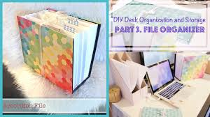 diy file organizer from recycled box desk organization and storage ideas 3 you