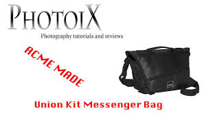 <b>Acme Made</b> Union kit messenger photo bag review and quick look ...