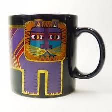 Image Is Loading Laurel Burch Coffee Mug Cup Black Amp Gold