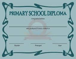 Primary School Certificate Template Certificate Template