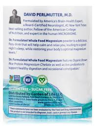 dr formulated whole food magnesium raspberry lemon flavor 7 oz 198 4 grams