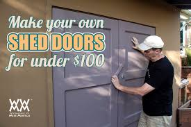 How To Build A Shed Barn Door Completed 4x8 Lean lean to backyard ...