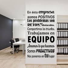 Vinilos positivos ideal para empresas que desean trabajar con energa, con  actitud positiva y motivando. Office Wall GraphicsOffice Wall DecalsContainer  ...