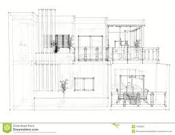 architectural house drawing. House Architectural Drawing D