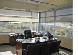 office window blinds. office window roller shades blinds