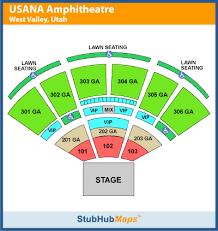 Usana Amphitheater Seating Chart 305 Related Keywords