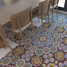 Vinyl Floor Covering Kitchen Vinyl Floor Flooring Moorish Tiles Floor Tiles Tiles