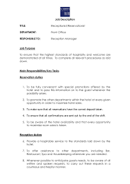 job description how to write a job description templates receptionist job description 02