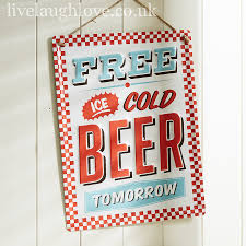 free beer retro sign