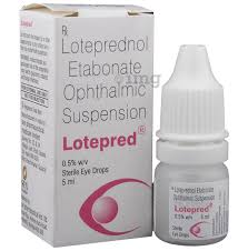 lotepred eye drop view uses side