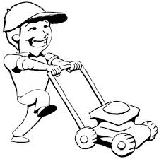 commercial lawn mower silhouette. pin boy clipart mowing lawn #2 commercial mower silhouette