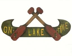 Canoe Paddle Coat Rack Canoe and Oars Welcome Sign 84