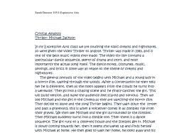 critical analysis of thriller michael jackson a level music  document image preview