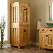 un varnish wooden bathroom linen cabinet with four door combined with towel hanger and