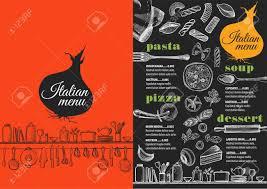 Menu Flyer Template Italian Menu Placemat Food Restaurant Brochure Template Design 20
