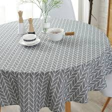 hot deal us 23 34 for modern gray 150cm round table cover cotton linen tablecloths nordic style yellow chessboard home decorative round table cloths
