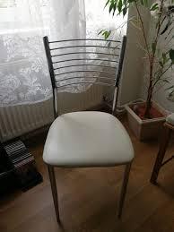 4 Esszimmer Stühle Kunstleder