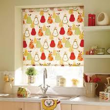 Dekorieren Sie Fenster In Der Küche Mit Ciute Bunte Roller Rollo